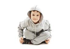 Lite kall höft-flygtur dansarepojke Fotografering för Bildbyråer