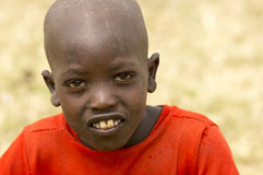Lite Masaipojke Arkivbilder