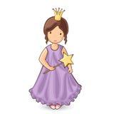 Lite princess Arkivfoto