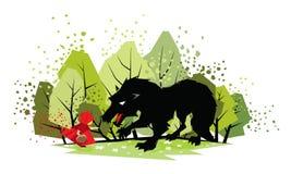 Lite röd ridninghuv Royaltyfri Illustrationer