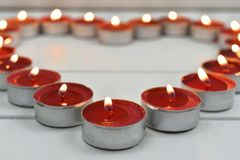 Free Lite Red Tea Light Candles Royalty Free Stock Photo - 106703125