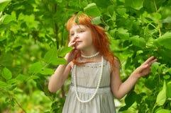 Lite redheaded flicka Royaltyfria Bilder