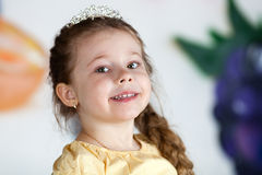 Lite princess. royaltyfri bild