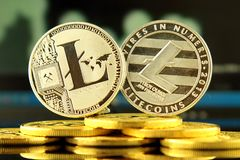 Litecoin,新的真正金钱的物理版本 免版税图库摄影