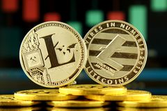 Litecoin,新的真正金钱的物理版本 免版税库存图片