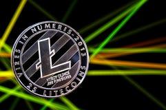 Litecoin är en modern väg av utbytet och denna crypto valuta Royaltyfri Fotografi