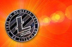 Litecoin é uma maneira moderna de troca e desta moeda cripto ilustração stock