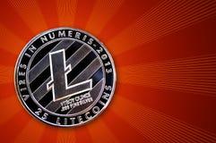 Litecoin é uma maneira moderna de troca e desta moeda cripto Fotografia de Stock