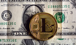 Litecoin ένα δολάριο Στοκ Εικόνες