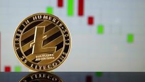 Litecoin современный путь обмена и этой секретной валюты сток-видео