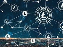 Litecoin с городским ЛА стоковое изображение