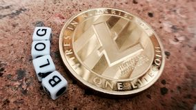 Litecoin-Blogkonzept Stockfoto