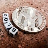 Litecoin-Blogkonzept Lizenzfreies Stockfoto