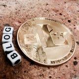 Litecoin-Blogkonzept Stockbilder