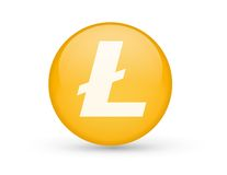 Litecoin button symbol Stock Photos