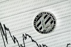 Litecoin, calculator and dollars calculations of the new cryptocurrency. Litecoin, dollars calculations of the new cryptocurrency Royalty Free Stock Images
