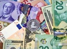 LITECOIN cryptocurrency硬币 免版税库存图片