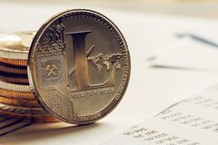 Litecoin cryptocurrency coinage zdjęcia stock