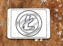 Litecoin-cryptocurrency Logo Stockbilder
