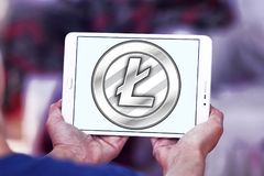 Litecoin-cryptocurrency Logo Stockfotos