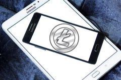 Litecoin-cryptocurrency Logo Lizenzfreie Stockfotos