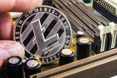 Litecoin is a modern way of exchange and this crypto currency. Is a convenient means of payment in the financial stock photography