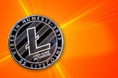 Litecoin is a modern way of exchange and this crypto currency royalty free stock photography