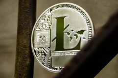 Litecoin is a modern way of exchange and this crypto currency is a convenient means of payment in the financial and web markets Royalty Free Stock Photography