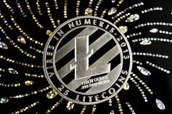 Litecoin is a modern way of exchange and this crypto currency Royalty Free Stock Photo