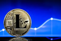 Litecoin is a modern way of exchange and this crypto currency. Is a convenient means of payment in the financial and web markets stock image