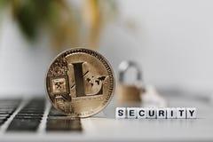 Litecoin security coin stock photos