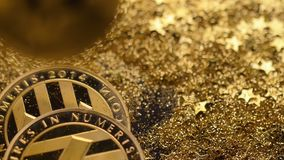 Litecoins Made As Virtual Currency Fall on Sparkles Macro stock video