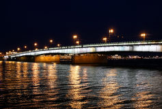 Liteiny Bridge across the Neva River in St. Petersburg Stock Photography