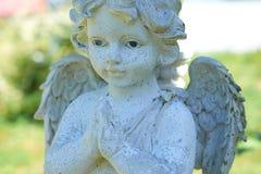 Liten ängelnärbild för staty Royaltyfria Foton