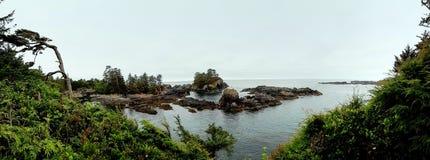 Liten ö av kusten av Ucluelet F. KR. royaltyfria foton