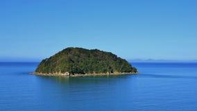 Liten ö i Abel Tasman National Park Arkivbilder