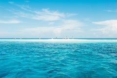 Liten ö på det indiska havet Arkivbild