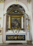 Liten altarekyrka av de tre altarna, Istanbul Arkivbild
