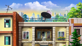 Liten balkong Royaltyfri Fotografi