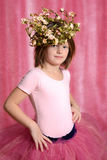 Liten ballerinaflicka royaltyfri fotografi
