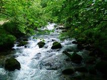 liten bergflod Fotografering för Bildbyråer