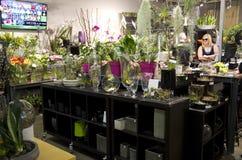 Liten blomsterhandel Fotografering för Bildbyråer