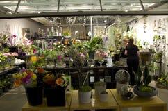 Liten blomsterhandel Arkivfoto