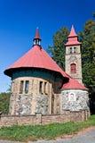 liten bohemia kyrklig tjeckisk republik Royaltyfri Foto