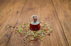 Liten bubblawhitsnö med Santa Claus Royaltyfri Foto