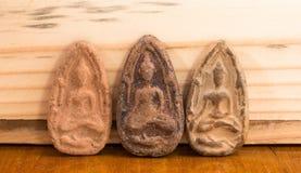 Liten buddha bild i Thailand Arkivfoto
