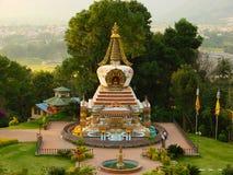 Liten buddistisk stupa av den Kopan kloster, Katmandu, Nepal arkivbild