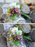 Liten bukett av blommor Arkivfoto