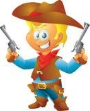 Liten cowboy Arkivbild