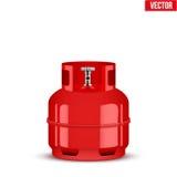 Liten cylinder för propangas också vektor för coreldrawillustration Royaltyfri Bild